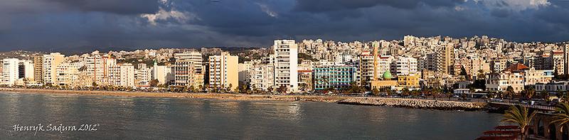 Skyline of Sidon (Saida), Lebanon