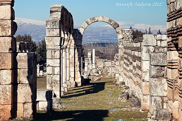 Anjar ruins in Lebanon