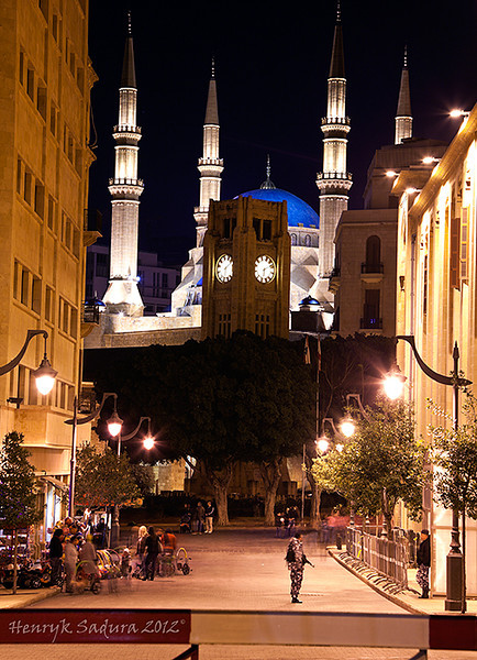 Mohammad al Amin Mosque and Clock Tower in Beirut