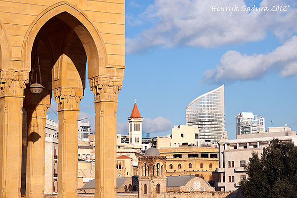 Mohammad al Amin Mosque and downtown of Beirut panorama