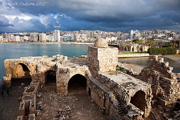 Sidon Sea Castle and panorama of Sidon