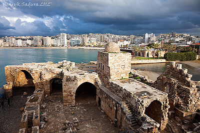 Sidon Sea Castle and panorama of Sidon