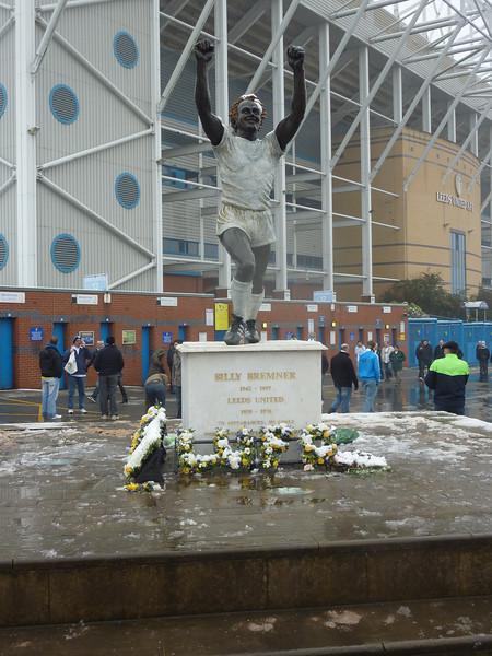 Billy Bremner Statue outside Elland Road