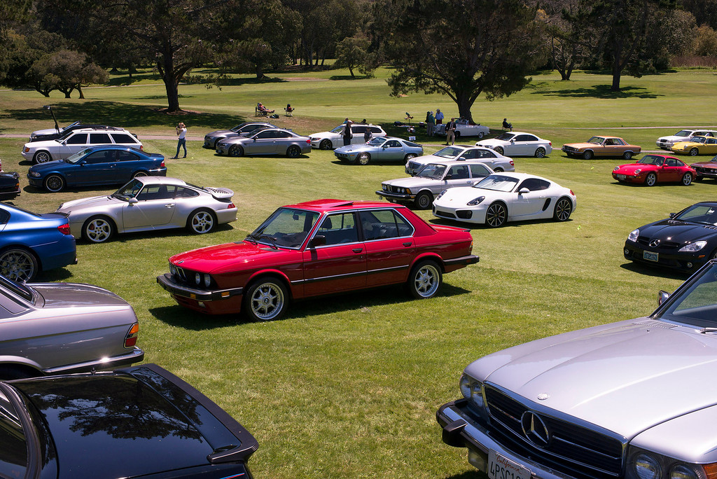 . Cars cover the lawn at Rancho Canada Golf Course during the Legends of the Autobahn car show Friday, August 16, 2013. (Matthew Hintz/Monterey County Herald)