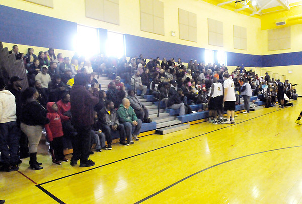 Don Knight / The Herald Bulletin<br /> The gym at Eastside Elementary was packed for the Legends first game.