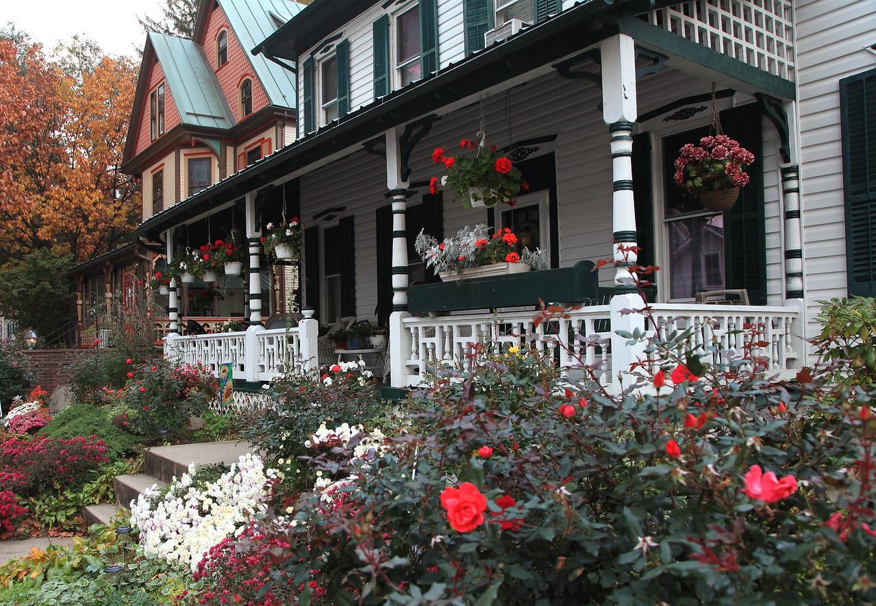Front porches along Pike St.. Lemont