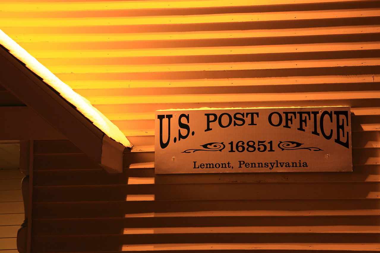 Lemont Post Office sign