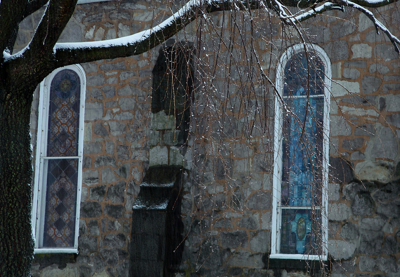 North side of the First Pres. Church, Lemont, PA