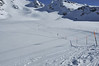 Nendaz Mont Fort<br /> ski runs and steep mogul fields on a glacier<br /> sur le glacier du Mont Fort