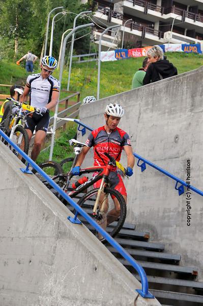 Nendaz, August<br />  The winner of the world famous Grand Raid mountain bike race Karl Platt