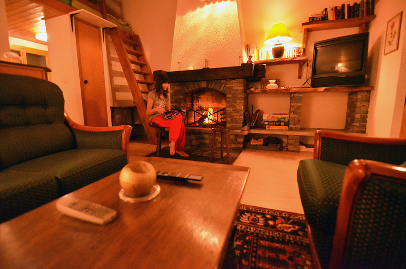 cheminee en hiver<br /> fire place in the winter