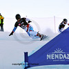 NENDAZ, JANUARY<br />  Mens finalist Marc Iselin  from Switzerland competes in the FIS World Championship Snowboard Giant Parallel Finals