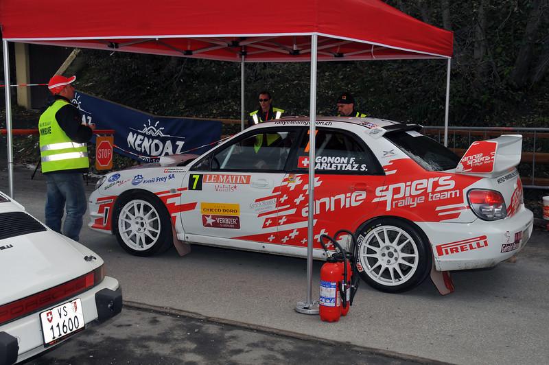 NENDAZ, October <br /> Silver medal in the International Valais Rally at the start in Nendaz