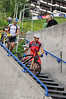 Nendaz, August<br />  The winner of the world famous Grand Raid mountain bike race Karl Platt