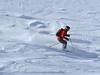 Nendaz Grepon Blanc: <br /> skier in powder<br /> skieur dans la poudreuse