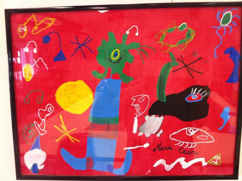 A la façon de Miro.... Œuvre de Marie Flore