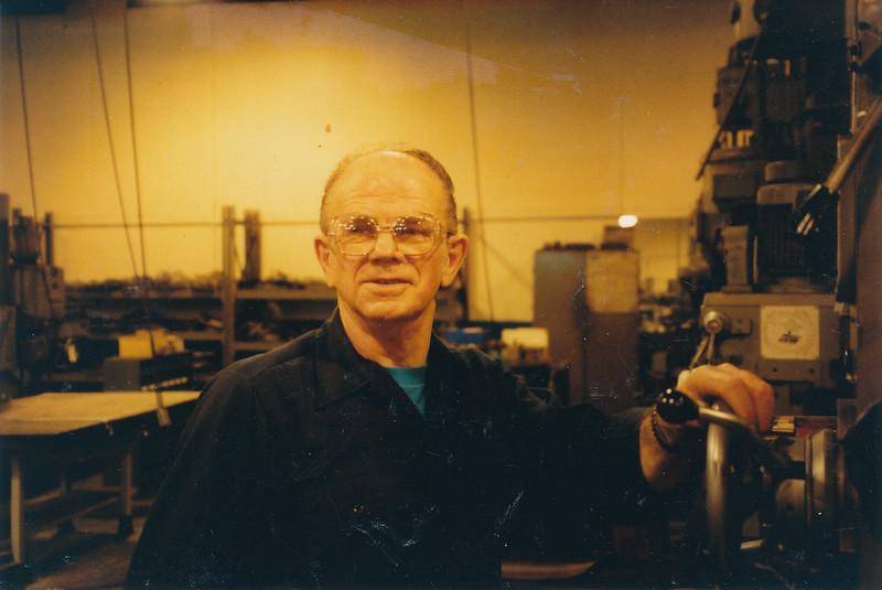 Leslie Gran at his job at Machine Products, La Crosse, WI.