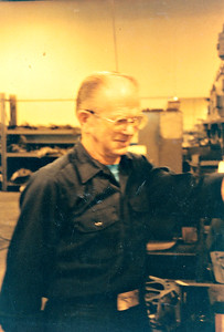 Leslie Gran at his job at Machine Products, La Crosse, WI.