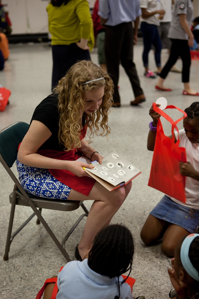 JLW staff member reading to students at Garfield elementary for Let's Read. Let's Move.Corporation for National and Community Service Photo.