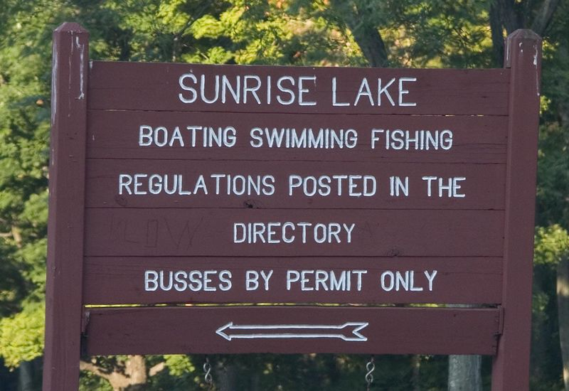 Watch for the sign for Sunrise Lake