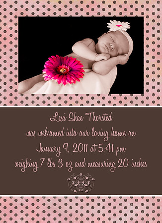 Lexi's Birth Announcement