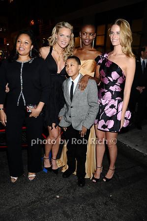 Justine Simmons, Heidi Albertsen, Miss Tanzania  Flaviana Matata,  Julie Henderson, Rusty Simmons<br /> photo by Rob Rich © 2009 robwayne1@aol.com 516-676-3939