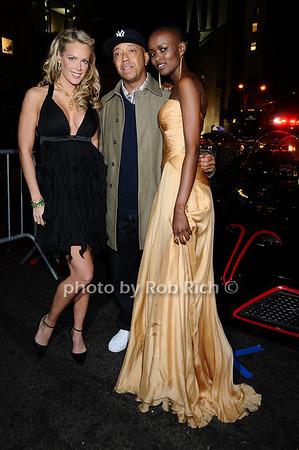 Heidi Albertsen,  Russell Simmons, Miss Tanzania  Flaviana Matata<br /> photo by Rob Rich © 2009 robwayne1@aol.com 516-676-3939