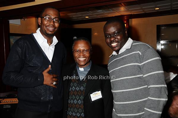 Martin Plia, Father Steven Mosha, Steven Wasira<br /> photo by Rob Rich © 2009 robwayne1@aol.com 516-676-3939