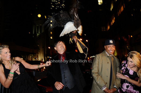 Heidi Albertsen, Al Cecere,Challenger (American Bald Eagle),Russell Simmons,Julie Henderson<br /> photo by Rob Rich © 2009 robwayne1@aol.com 516-676-3939