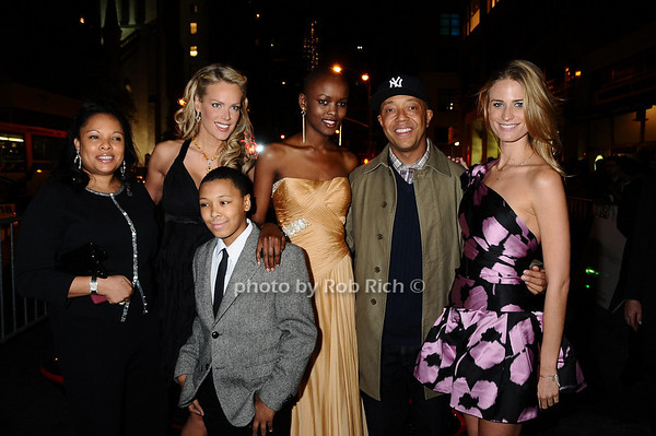 Justine Simmons, Heidi Albertsen, Miss Tanzania  Flaviana Matata Russell Simmons  Julie Henderson, Rusty Simmons<br /> photo by Rob Rich © 2009 robwayne1@aol.com 516-676-3939
