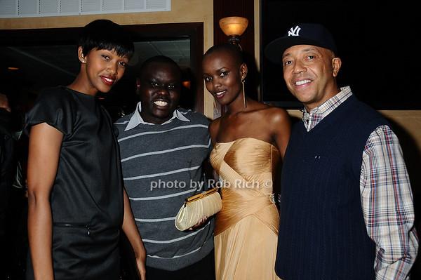 Jennifer Ruhinda, Steven Wasira, Miss Tanzania, Russell Simmons<br /> photo by Rob Rich © 2009 robwayne1@aol.com 516-676-3939