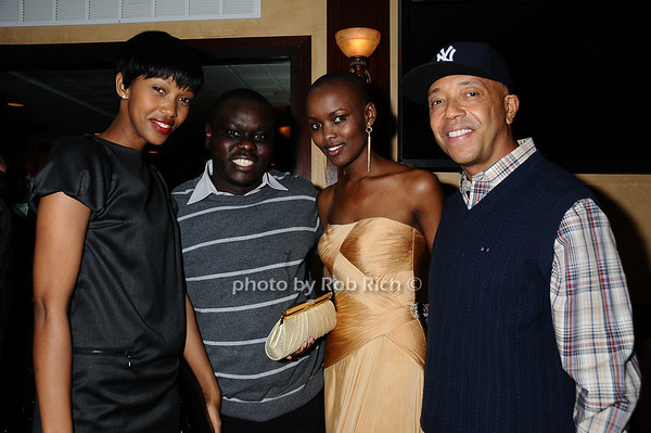 Jennifer Ruhinda, Steven Wasira, Miss Tanzania, Russell Simmons<br /> photo by Rob Rich © 2009 robwayne1@aol.com 516-676-3939