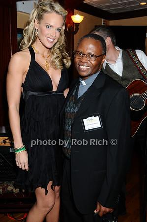 Heidi Albertsen, Father Steven Mosha<br /> photo by Rob Rich © 2009 robwayne1@aol.com 516-676-3939