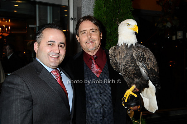 Jack Sinanaj,Al Cecere,Challenger (American Bald Eagle)<br /> photo by Rob Rich © 2009 robwayne1@aol.com 516-676-3939