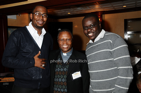 Martin Plia, Father Steven Mosha, Steven Wasira<br /> photo by Rob Rich © 2009 robwayne1@aol.com 516-676-3939