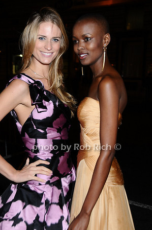 Julie Henderson,  Miss Tanzania  Flaviana Matata<br /> photo by Rob Rich © 2009 robwayne1@aol.com 516-676-3939