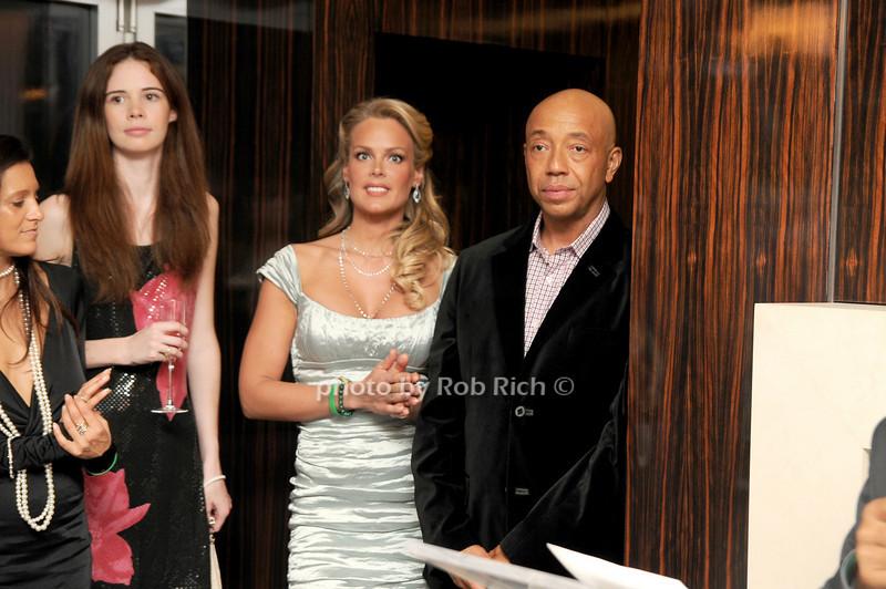 Heidi Albertsen, Russell Simmons<br /> photo by Rob Rich © 2008 robwayne1@aol.com 516-676-3939