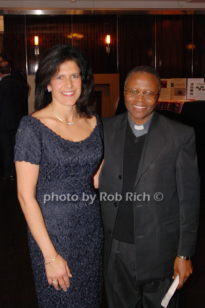Nancy Knight and Father Stephan Mosha