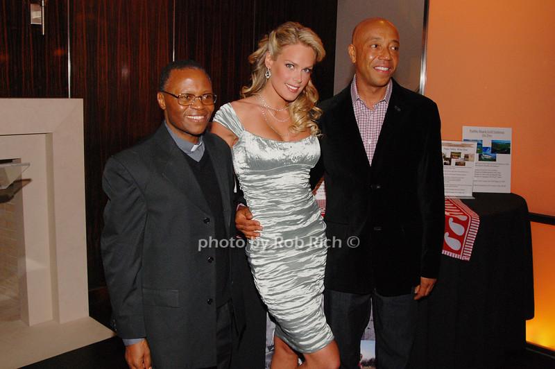 Father Stephen, Heidi Albertson and Russell Simmons