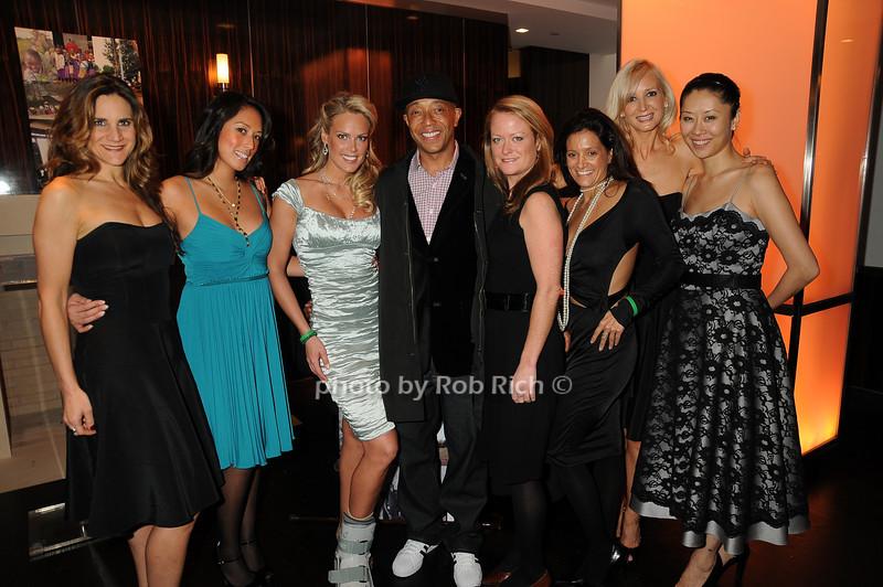 Heidi Albertsen, Russell Simmons, guests<br /> photo by Rob Rich © 2008 robwayne1@aol.com 516-676-3939