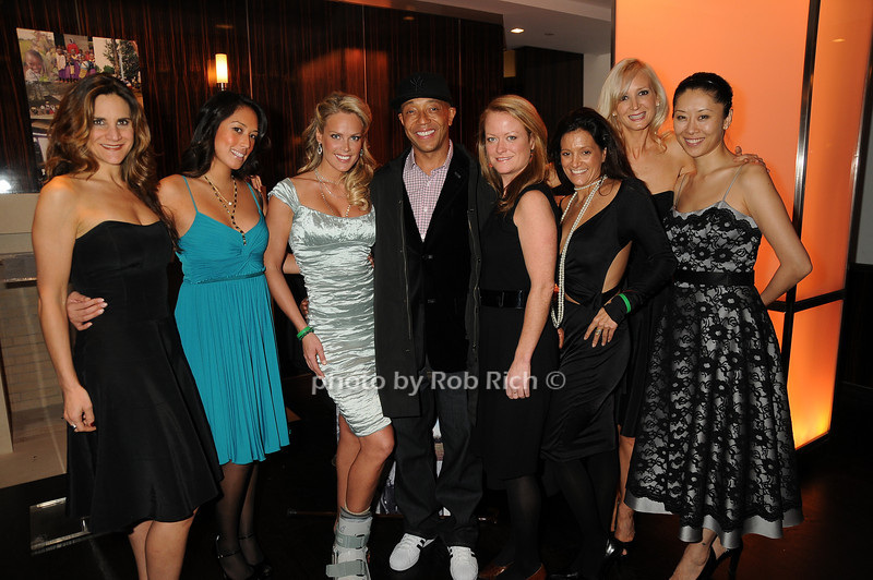 Heidi Albertsen, Russell Simmons, guests<br /> photo by Rob Rich © 2008 robwayne1@aol.com 516-676-3939
