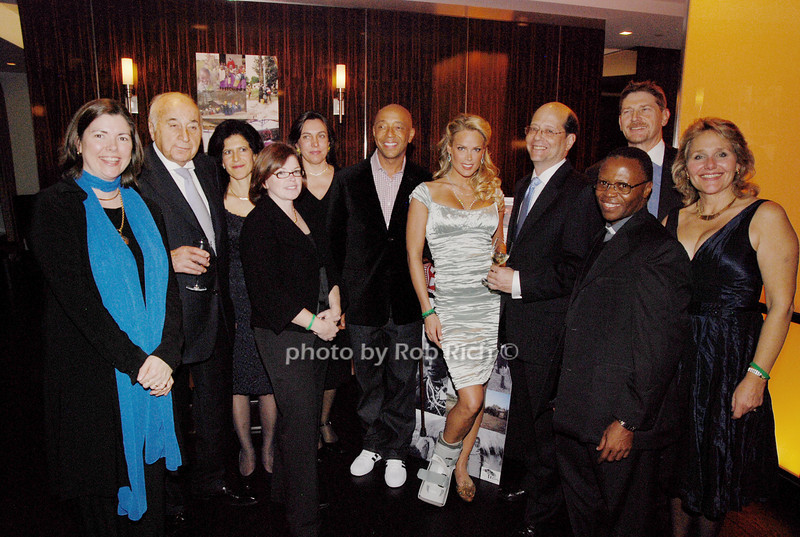Susan Konig, Lee Mellis, Nancy Knight, Kathy Simons, Maggie Kolman-Mandle, Russell Simmons, Heidi Albertson, Father Stephen, Jess Collen and Jane Collen