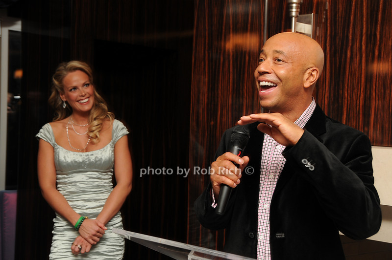 Heidi Albertsen, Russell Simmons<br /> photo by Rob Rich © 2008 robwayne1@aol.com 516-676-3939