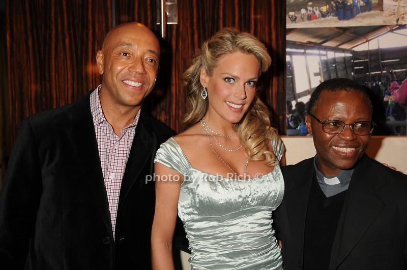 Russell Simmons, Heidi Albertsen,Father Steven Mosha<br /> photo by Rob Rich © 2008 robwayne1@aol.com 516-676-3939