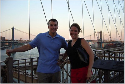 With Rin's friend Larry from Atlanta on the Brooklyn Bridge (summer 2004)