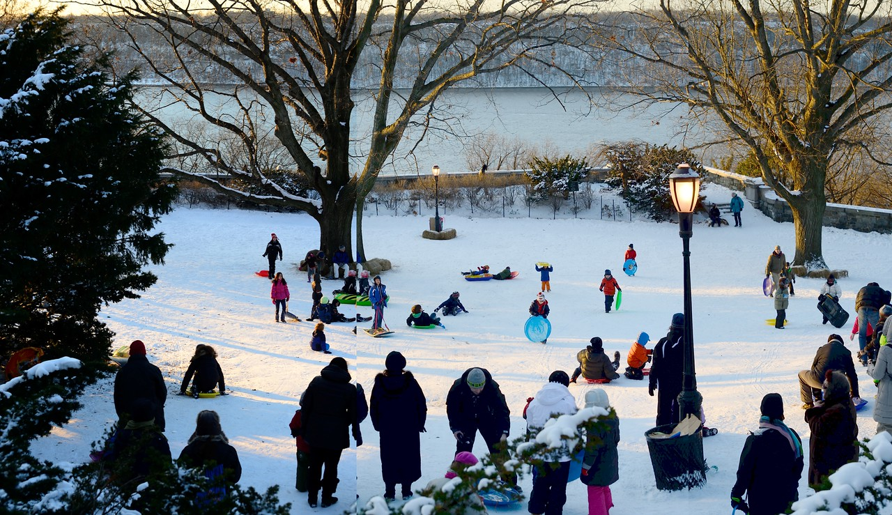 January 4, 2014; Fort Tryon Park and Hudson River