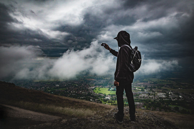 Moody day at the Malvern Hills