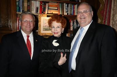 Joe Ackermann, Arlene Dahl, Roger Goldman photo by Rob Rich © 2009 516-676-3939 robwayne1@aol.com