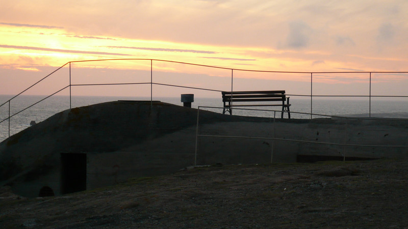 Bunker Bench; on the causeway walking down, there are several bunkers left over from the 2nd world war.