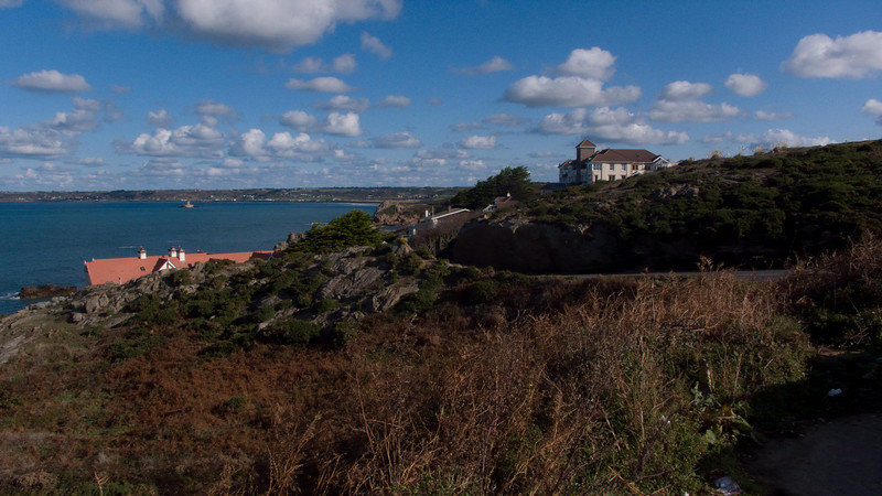 The view looking west over St. Ouens bay